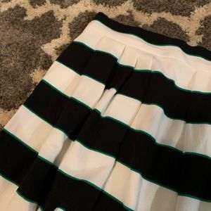 Eva Mendes skirt, navy and white striped, size 4